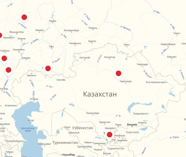 Дилерская сеть за пределами Российской Федерации